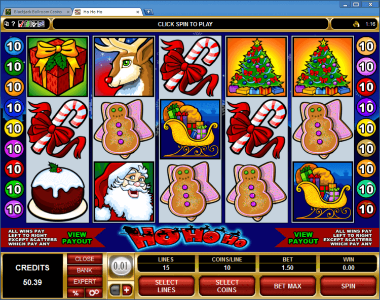 Ho Ho Ho regular video slot BlackJack Ballroom online casino