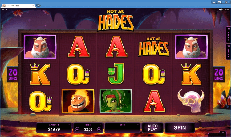 Hot as Hades bonus slot BlackJack Ballroom online casino