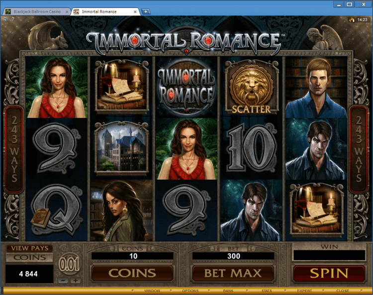 Immortal Romance bonus slot Ballroom BlackJack online casino app