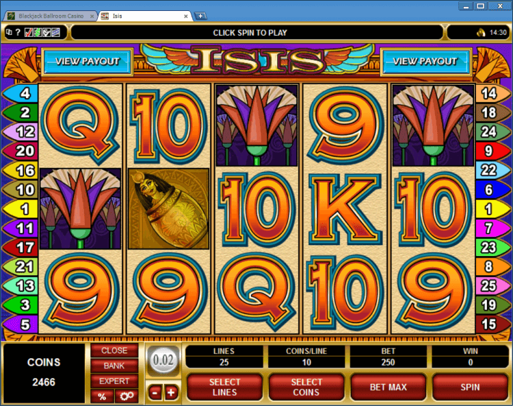 Isis regular video slot Ballroom BlackJack online casino app