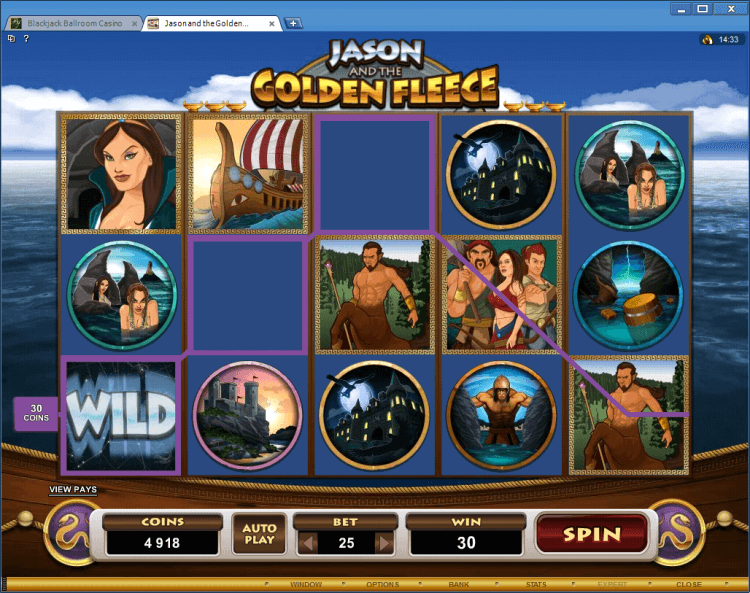 Jason and the Golden Fleece bonus slot BlackJack Ballroom online casino
