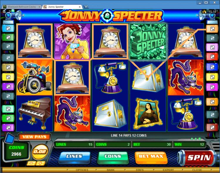 Jonny Specter bonus slot Black Jack Ballroom online casino app