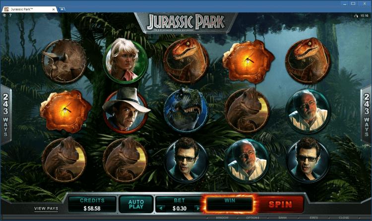 Jurassic Park bonus slot BlackJack Ballroom app casino online