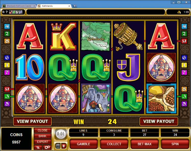 Kathmandu regular video slot BlackJack Ballroom online casino gambling application