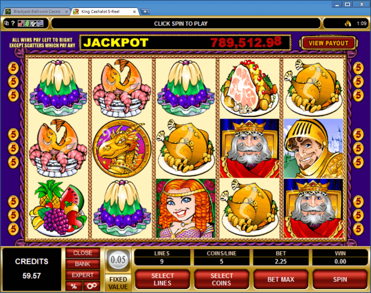 King Cashalot progressive slot BlackJack Ballroom online casino gambling