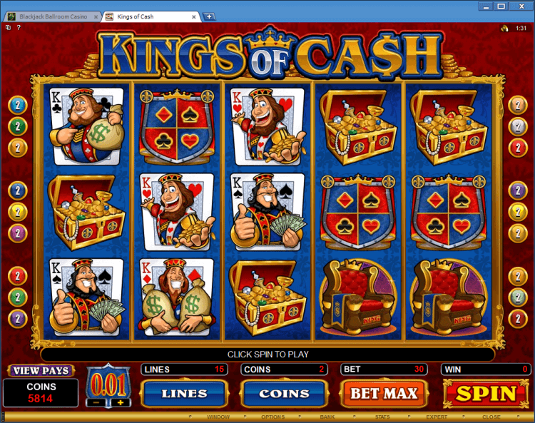 Kings of Cash bonus slot BlackJack Ballroom online casino