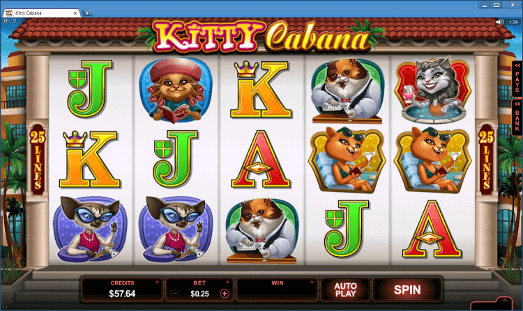 Kitty Kabana bonus slot Black Jack Ballroom online gambling casino