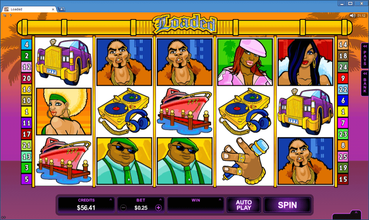 online casino game loaded