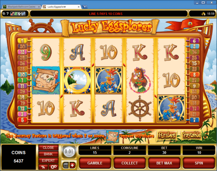 Lucky Eggsplorer bonus slot BlackJack Ballroom online casino application
