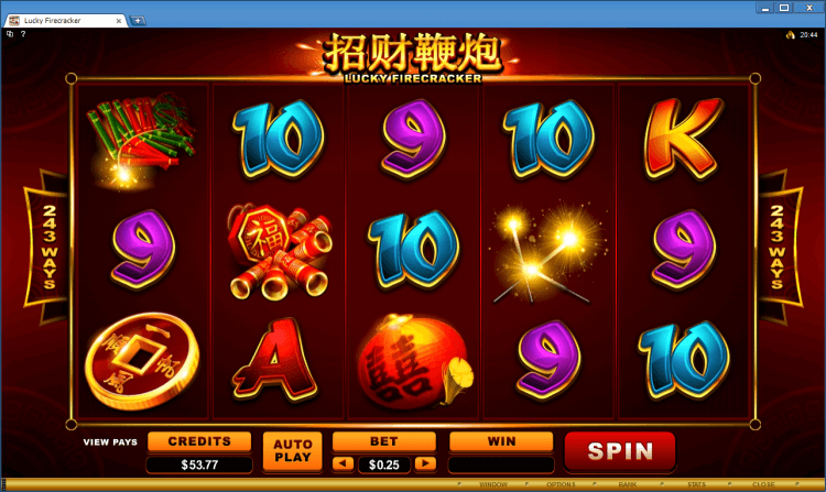 Lucky Firecracker regular video slot BlackJack Ballroom online casino gambling