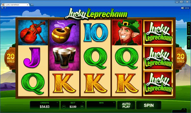 Lucky Leprechaun bonus slot BlackJack Ballroom online casino gambling