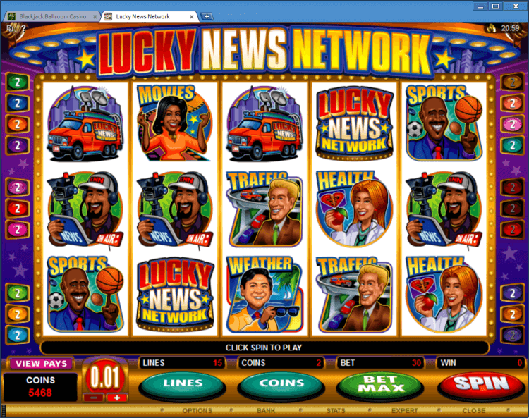 Lucky News Network bonus slot BlackJack Ballroom online casino application