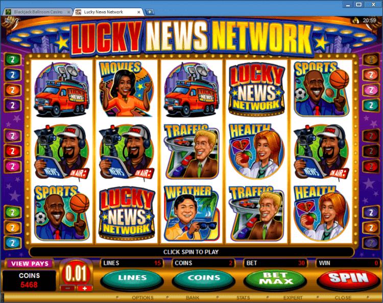 Lucky News Network bonus slot BlackJack Ballroom online casino application