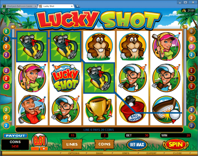 Lucky Shot bonus slot BlackJack Ballroom online casino application