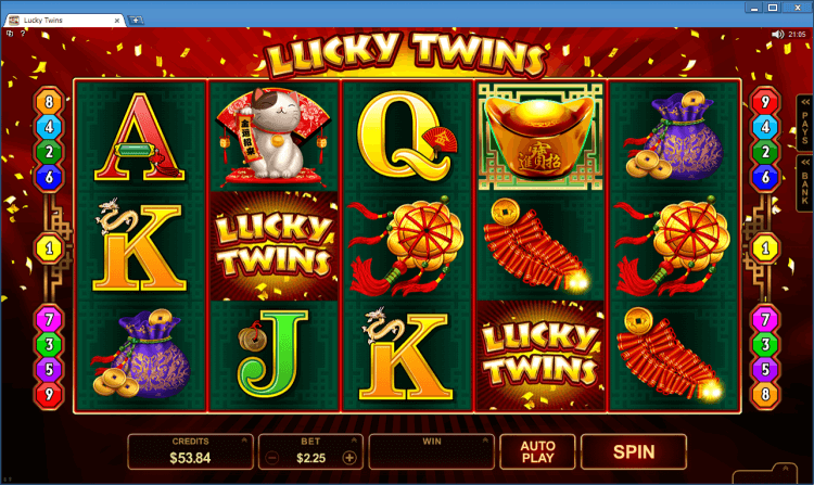 Lucky Twins regular video slot BlackJack Ballroom online casino gambling