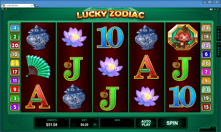 Lucky Zodiac regular video slot BlackJack Ballroom online casino gambling