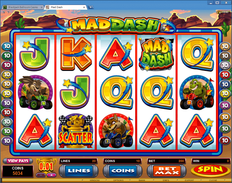 Mad Dash bonus slot BlackJack Ballroom online gambling casino app