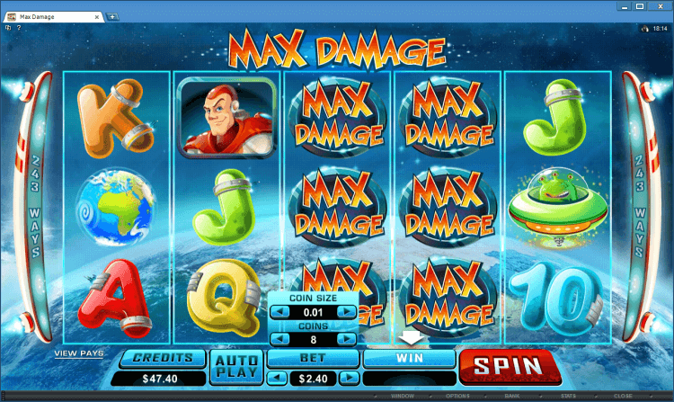 Max Damage bonus slot BlackJack Ballroom online casino gambling