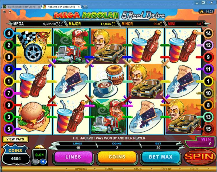 Mega Moolah 5 reel Drive progressive slot BlackJack Ballroom gambling online casino app