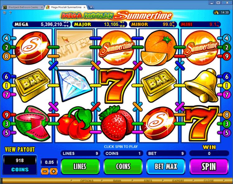 Mega Moolah Summertime progressive slot BlackJack Ballroom online casino app