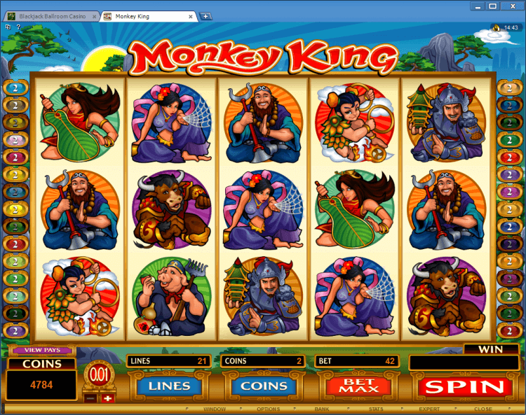 Monkey King bonus slot BlackJack Ballroom online gambling casino app