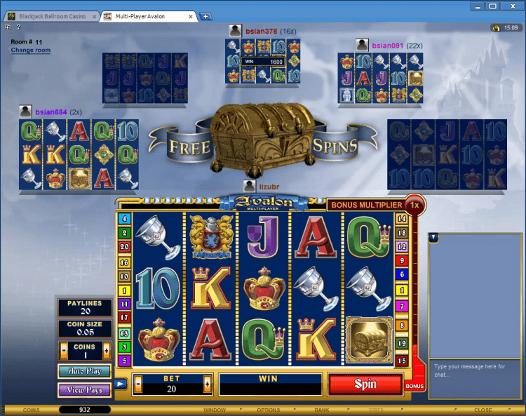 Multi-Player Avalon BlackJack Ballroom online casino gambling