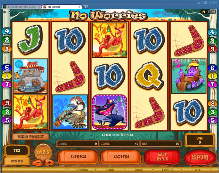 No Worries bonus slot BlackJack Ballroom online casino gambling
