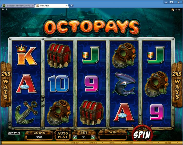Octopays bonus slot BlackJack Ballroom online casino app