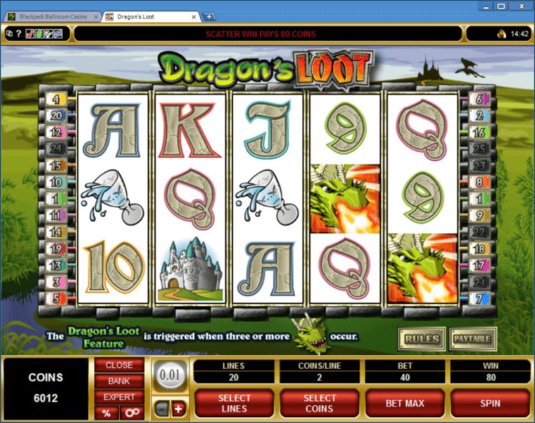 Online casino application bonus slot Dragoon's Loot BlackJack Ballroom