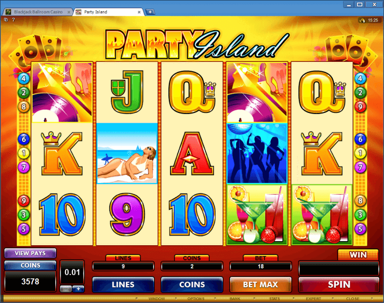 Party Island regular video slot BlackJack Ballroom online casino app