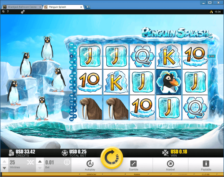 Penguin Splash bonus slot BlackJack Ballroom online casino gamble