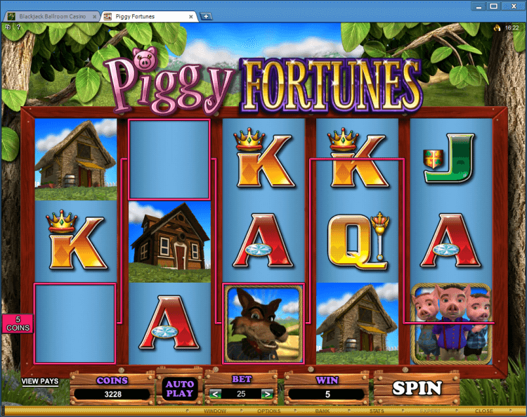 Piggy Fortunes bonus slot BlackJack Ballroom online casino gambling