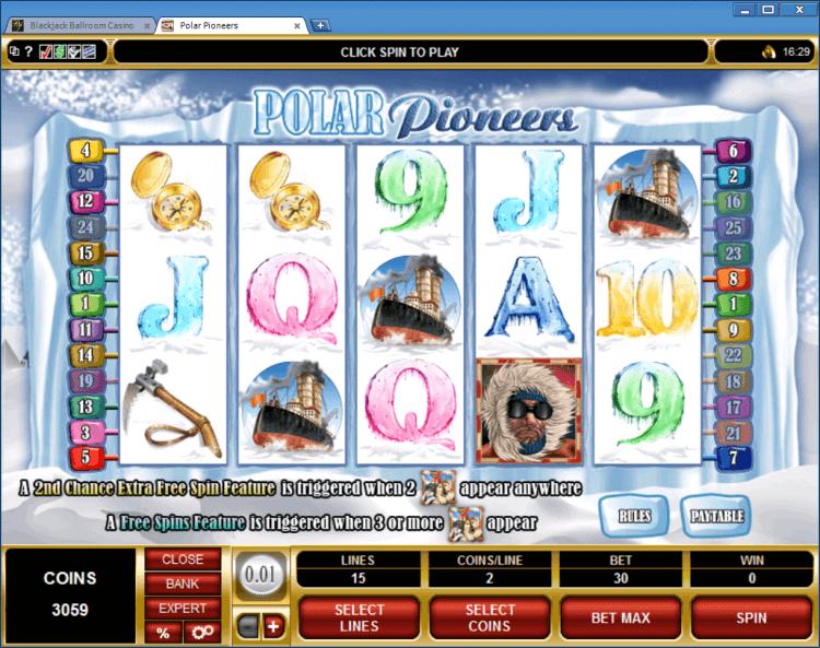 Polar Pioneers bonus slot BlackJack Ballroom online casino app