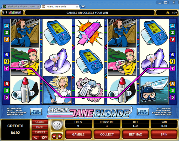 Regular Video Slot Agent Jane Blonde online